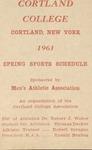 1961 Spring Athletic Schedule