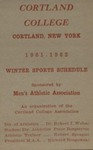 1961-62 Winter Athletic Schedule by State University of New York College at Cortland