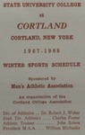 1967-68 Winter Athletic Schedule by State University of New York College at Cortland