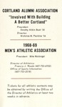 1968-69 Winter Athletic Schedule