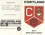 1970-71 Winter Athletic Schedule by State University of New York College at Cortland