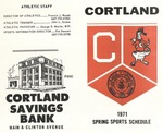 1971 Spring Athletic Schedule by State University of New York College at Cortland
