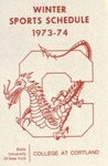 1973-74 Winter Athletic Schedule by State University of New York College at Cortland