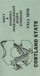 1974 Fall Athletic Schedule by State University of New York College at Cortland