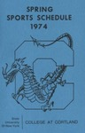 1974 Spring Athletic Schedule by State University of New York College at Cortland