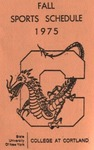 1975 Fall Athletic Schedule by State University of New York College at Cortland