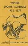 1976-77 Winter Athletic Schedule by State University of New York College at Cortland