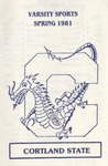 1981 Spring Athletic Schedule by State University of New York College at Cortland