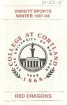 1987-88 Winter Athletic Schedule by State University of New York College at Cortland