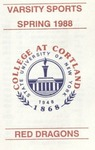 1988 Spring Athletic Schedule by State University of New York College at Cortland