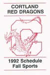 1992 Fall Athletic Schedule by State University of New York College at Cortland
