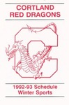 1992-93 Winter Athletic Schedule