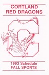 1993 Fall Athletic Schedule by State University of New York College at Cortland