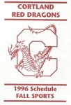1996 Fall Athletic Schedule by State University of New York College at Cortland