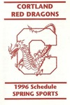 1996 Spring Athletic Schedule by State University of New York College at Cortland