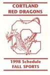 1998 Fall Athletic Schedule by State University of New York College at Cortland