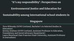 'It's my responsibility': Perspectives on Environmental Justice and Education for Sustainability among international school students in Singapore