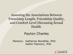 Assessing the Associations Between Friendship Length, Friendship Quality, and Comfort Level Discussing Sexual Health