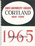 1965 Spring Sports Guide by State University of New York College at Cortland