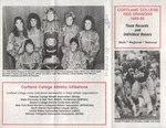 1989-1990 Team Records and Individual Honors by State University of New York College at Cortland