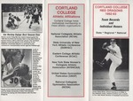 1992-1993 Team Records and Individual Honors by State University of New York College at Cortland