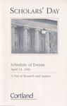 2001 Scholar's Day Schedule