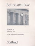 2001 Scholar's Day Abstracts by State University of New York at Cortland