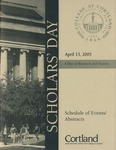 2005 Scholar's Day Program by State University of New York at Cortland