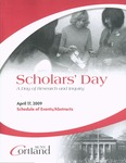 2009 Scholar's Day Program by State University of New York at Cortland