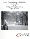 2009 Writing Contest Winners by State University of New York at Cortland