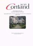 2012 Writing Contest Winners by State University of New York at Cortland