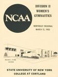 1983 Regionals, Women's Gymnastics by State University of New York College at Cortland