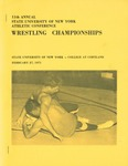 1971 Championship, Wrestling by State University of New York College at Cortland