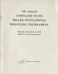 1972 Tournament, Wrestling by State University of New York College at Cortland
